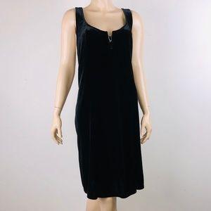 Cacique Black Velvet Embellished Nightgown
